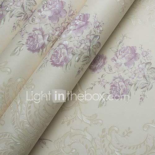 Bloemen behang modern behangen pvc vinyl materiaal lijm nodig behang kamer wallcovering - Modern volwassen kamer behang ...