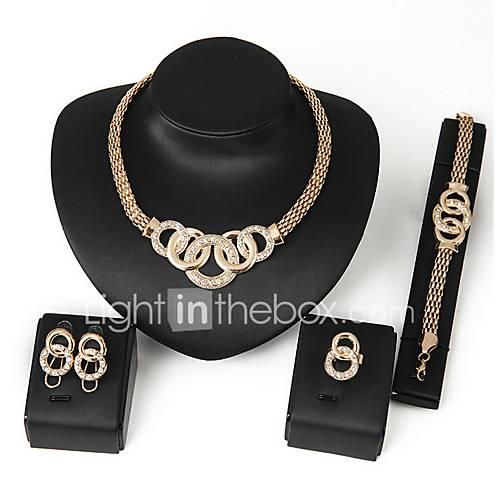 Joyas Collares / Pendientes / Argollas / Pulsera Collar / pendientes / Conjunto Ajustable / Adorable / Cajas y Bolsas de RegaloBoda / Lightinthebox