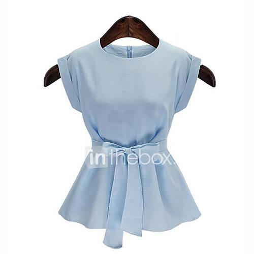 vrouwen-grote-maten-zomer-blouse-casual-dagelijks-effen-ronde-hals-mouwloos-blauw-wit-katoen-medium