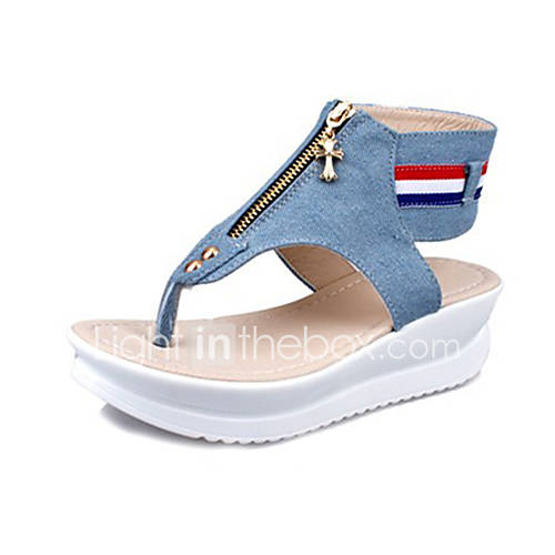 s shoes canvas summer wedges sandals casual wedge