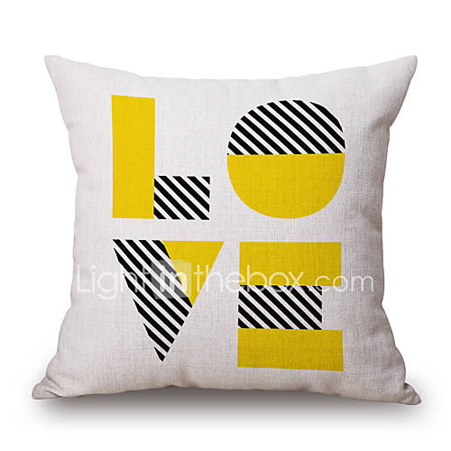 Throw Pillow Covers With Sayings : Cotton/Linen Pillow Cover,Geometric / Patchwork / Quotes & Sayings Accent/Decorative / Modern ...