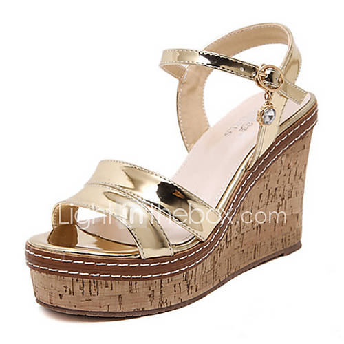 s shoes pu summer wedges open toe sandals dress