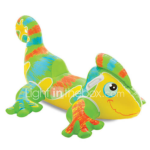 Lizard model mounts adult children paddle toys inflatable for Animaux gonflable piscine