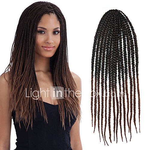 Crochet Box Braids Ombre : Black Ombre Dark Brown Senegal Crochet Twist Large Box Braid 24 ...