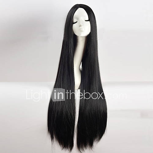 Synthetic Wig Straight kinky Straight Middle Part Black Women's Capless Cosplay Wig Long Synthetic Hair
