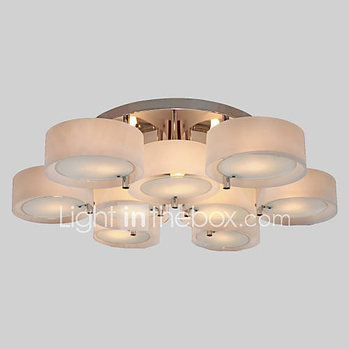 max 60w flush mount modern contemporary chrome feature