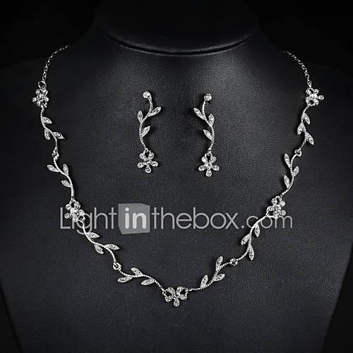 Joyas Collares / Pendientes Collar / pendientes / Los sistemas nupciales de la joyería De Moda Boda / Fiesta 1 Set Mujer PlateadoRegalos Descuento en Lightinthebox
