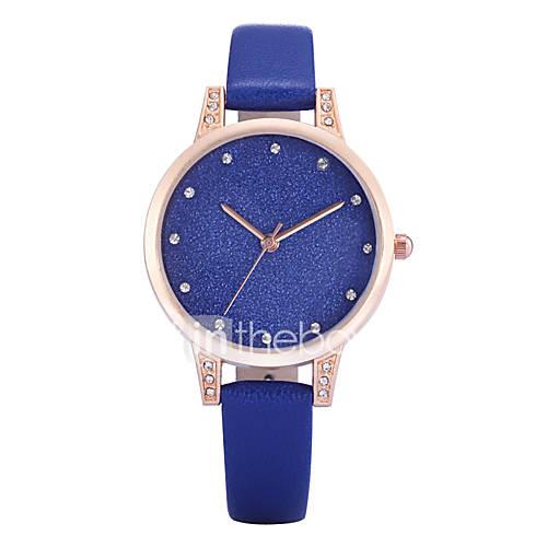Mujer Reloj de Moda / Reloj de Pulsera Cuarzo La imitación de diamante PU Banda Encanto / Casual Negro / Blanco / Azul / Gris / Rosa Marca Descuento en Lightinthebox