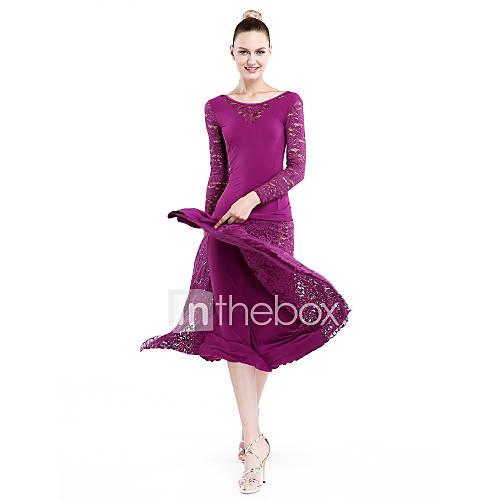 Vestidos(Negro / Fucsia / Verde / Morado / Rojo,Encaje / Viscosa,Danza Moderna) -Danza Moderna- paraMujer EncajeRepresentación / Descuento en Lightinthebox