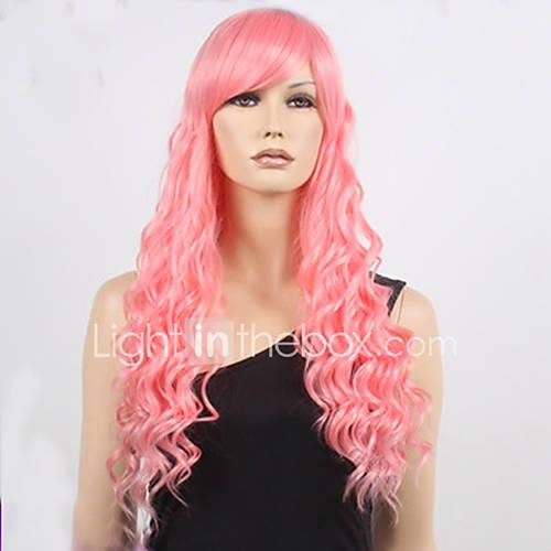 Rose Quartz Steven Universe Hair Template: Long Steven Universe Rose Quartz Cosplay Wig Pink Curly
