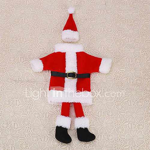 1pc christmas red santa claus suit foot clothes hat wine for 4 foot santa claus decoration