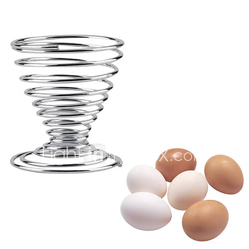 1Pcs Stainless Steel Spring Wire Tray Boiled Egg Cups Holder Stand Storage Eggs Tools