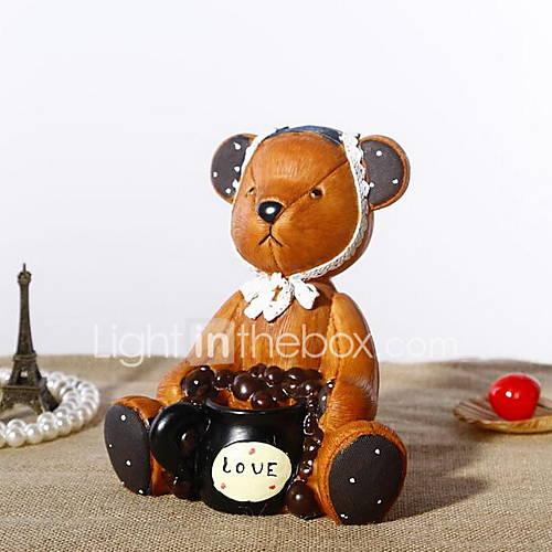 Salvadanaio orso cartone animato per la decorazione