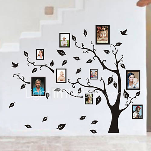 Family Tree Photo diy pvc wall sticker vintage posters mural decor brick wallpaper Decorative diy Mural Wallpaper