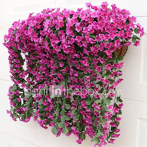 2 2 Rama Seda Violeta Flor de Pared Flores Artificiales 80CM