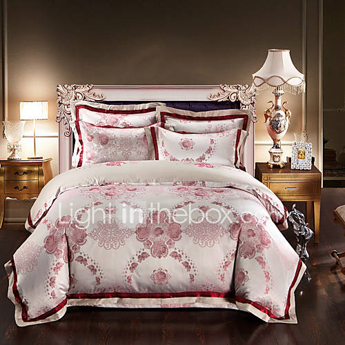 High Quality Luxury Silk Cotton Blend Duvet Cover Sets