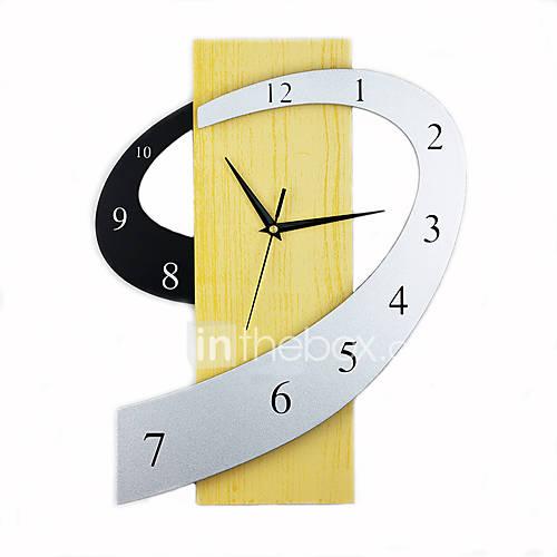 Novedad Moderno/Contemporáneo Reloj de pared , Familia Madera 1317 Descuento en Lightinthebox