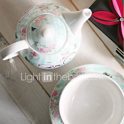 New Bone China Tea Set Coffee Cup Lovers Gift Bicycle ...