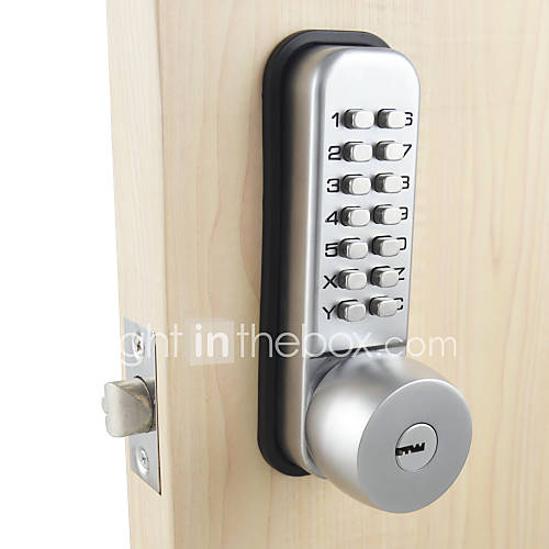 Mechanical password door lock bedroom code locks with 3 - Door handles with locks for bedrooms ...
