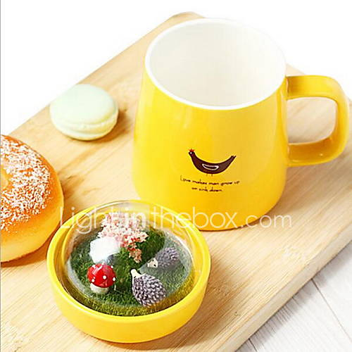 creativa micro paisaje taza de cerámica taza linda para los estudiantes Descuento en Lightinthebox