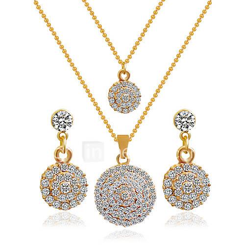 Joyas Collares / Pendientes Los sistemas nupciales de la joyería Boda 1 Set Mujer Dorado Regalos de boda Descuento en Lightinthebox