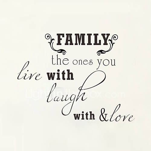 Wall Stickers Wall Decals Style Family English Words ...Quotes About Family English