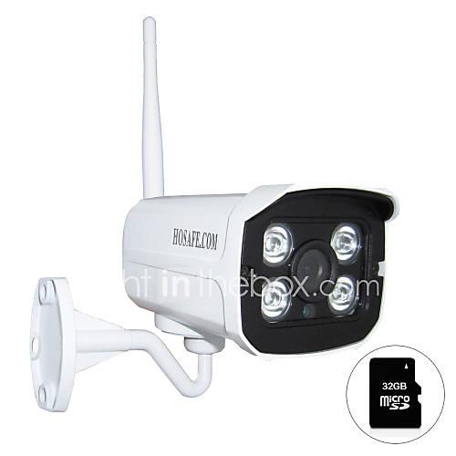 hosafe.com 720p onvif de la cámara IP inalámbrica al aire libre w / 32gb micro sd / tarjeta de movimiento alerta de detección / e-mail Descuento en Lightinthebox