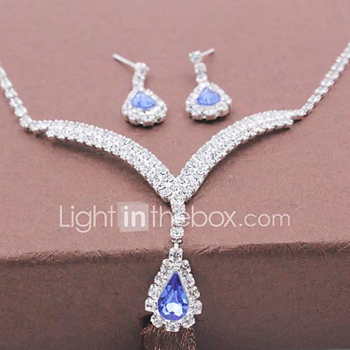 Joyas Collares / Pendientes Collar / pendientes Moda Boda / Fiesta 1 Set Mujer Plateado Regalos de boda Descuento en Lightinthebox
