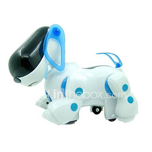 Puppy Toys For 10 And Up : Machine dog light up plastic white blue music toy for