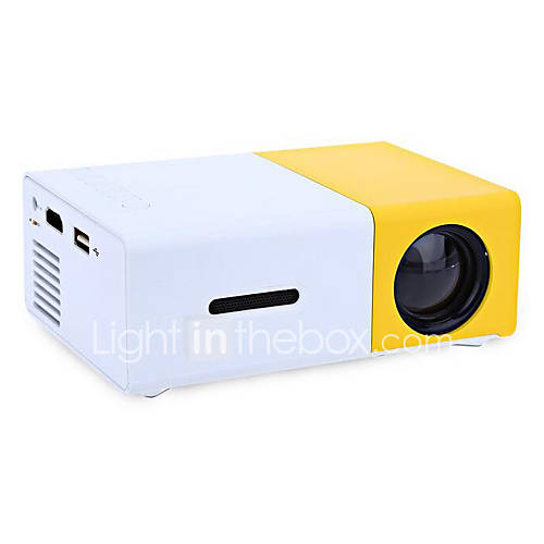 Aao lcd mini projector hvga 480x320 2000 lumens led 4 3 for Small computer projector