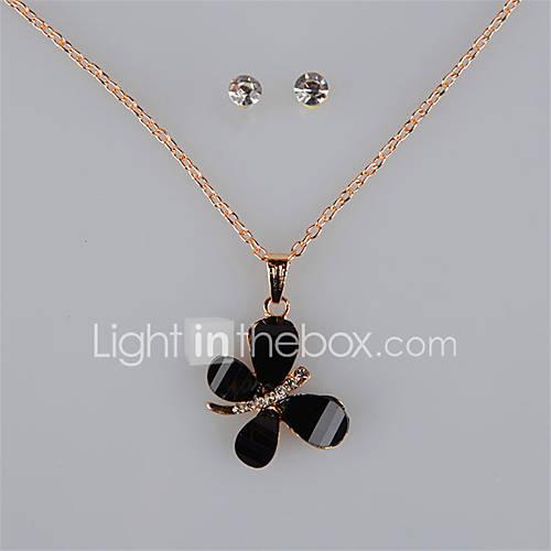 Joyas Collares / Pendientes Collar / pendientes / Los sistemas nupciales de la joyería / Conjunto / Juego de JoyasDe Moda / Cosecha / Descuento en Lightinthebox