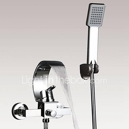 Modern art deco retro bad en douche waterval inclusief handdouche with keramische ventiel for Modern douche bad
