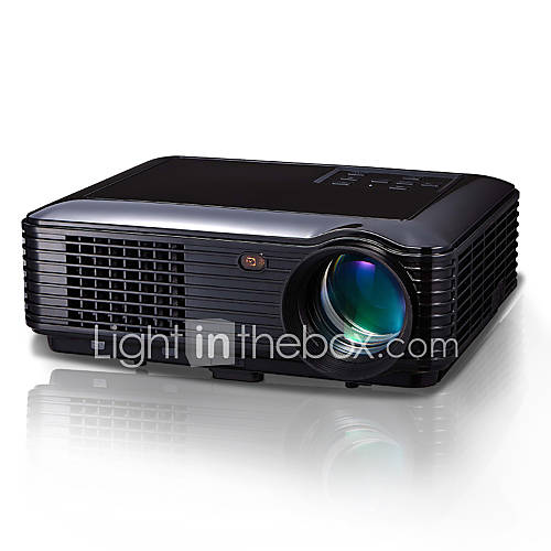 Fastfox Hd Projector Full Color 720p 3000 Lumens Analog Tv: Powerful® 1280*800 Native Resolution Projector Full Hd