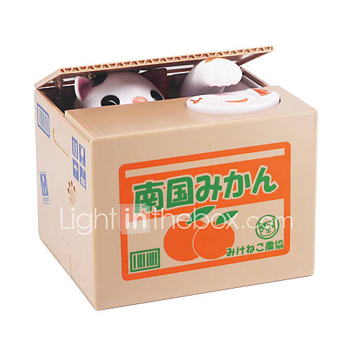 Novelty Toy Square Cat ABS White Yellow Gray For Boys For Girls