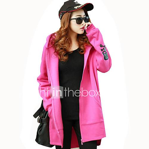 dames-actief-eenvoudig-casual-dagelijks-uitgaan-hoodie-jacket-effen-micro-elastisch-polyester-lange-mouw-lente-herfst