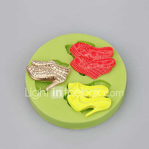 3 Cavity high heels shape silicone mold for fondant cake ...