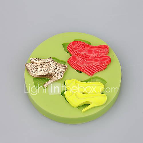 Fondant Cake Silicone Molds : 3 Cavity high heels shape silicone mold for fondant cake ...