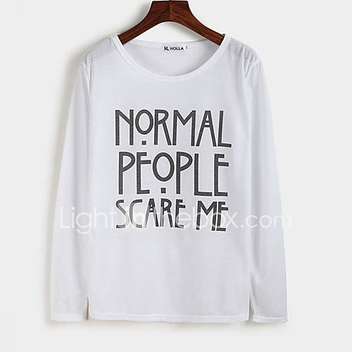 vrouwen-vintage-alle-seizoenen-t-shirt-casual-dagelijks-letter-ronde-hals-lange-mouw-wit-zwart-polyester-dun