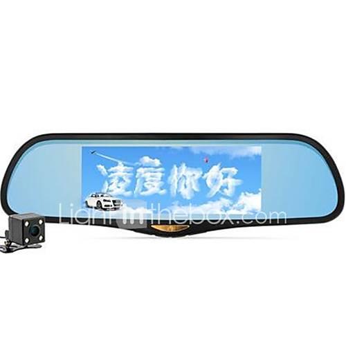 hs995 ling tacógrafo lente dupla navegação espelho retrovisor voz uma máquina de 7 polegadas espelho nuvem tela grande