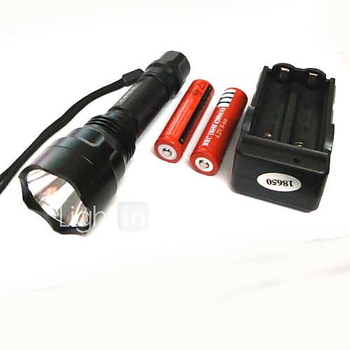 Iluminación Linternas LED LED 500 Lumens 4.0 Modo Cree XP-E R2 18650.0 Super Ligero Camping/Senderismo/Cuevas Aleación de Aluminio Descuento en Lightinthebox