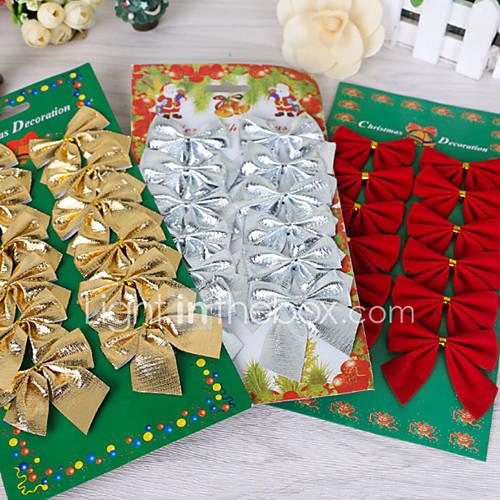12pcs decoraciones para rboles de navidad del arco for Decoraciones sencillas para el hogar