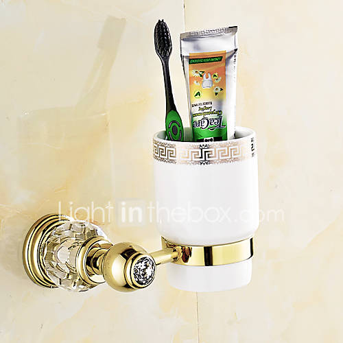 European style solid brass crystal gold bathroom shelf - Solid brass bathroom accessories ...