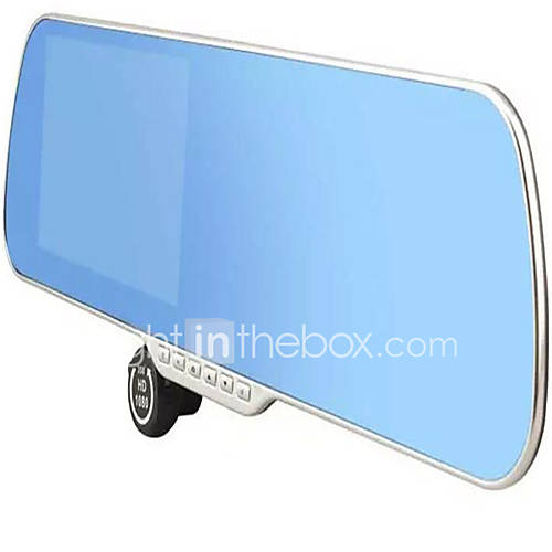 Rear view mirror high definition dual lens recorder 5 inch for Mirror definition