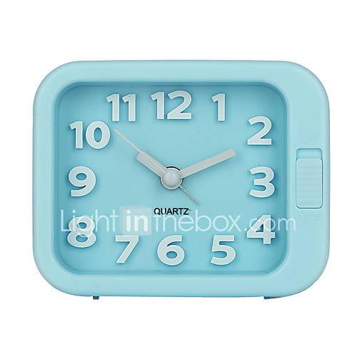 Candy Color Plastic Cartoon Alarm Clock Watch Night Light