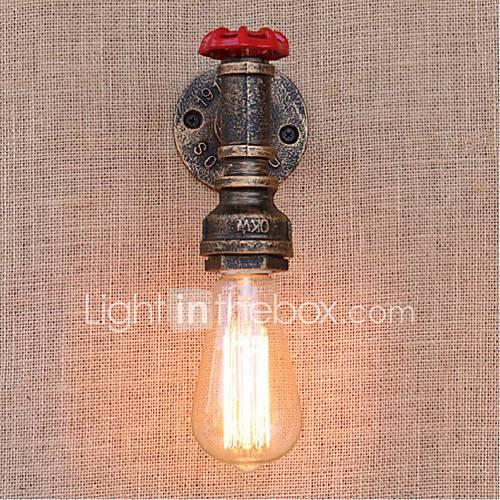 AC 220V-240V 40W E27 BG805 Nostalgia Simple Water Pipe Decorative Small Wall Lamp Wall Light ...