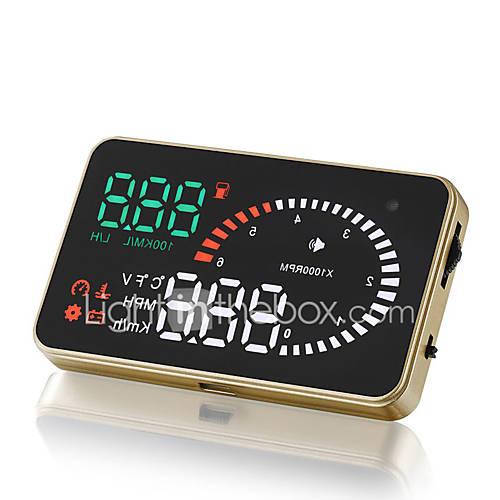 obd2 carro universal ii HUD cabeça-up display de 3 polegadas x6 projector sistema de alerta de excesso de velocidade pára-brisa auto