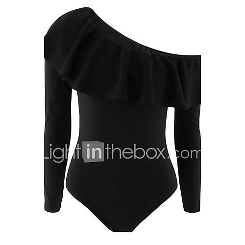 dames-casual-dagelijks-sexy-normaal-gilet-effen-zwart-schouderafhangend-mouwloos-polyester-alle-seizoenen-medium-micro-elastisch