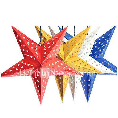45cm christmas laser paper star christmas hanging for 3d paper star decoration
