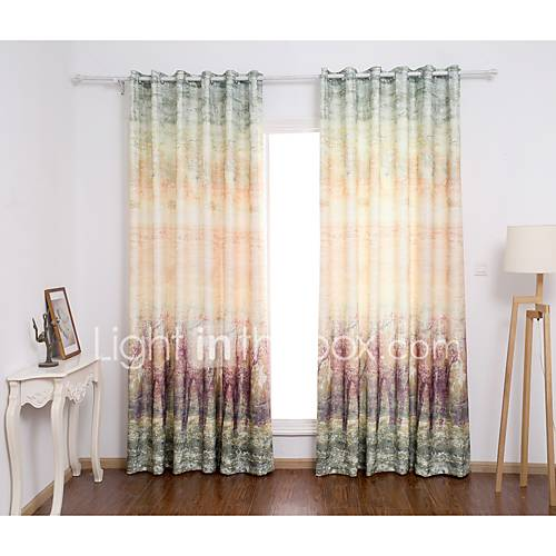 Two Panels Curtain Modern Plaid Check Living Room Poly 5322201 2016