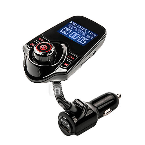AGETUNR FM Transmitter Bluetooth Handsfree Car Kit MP3 Music Player Radio Adapter with Remote Control For iPhone /Samsung LG Smartphone